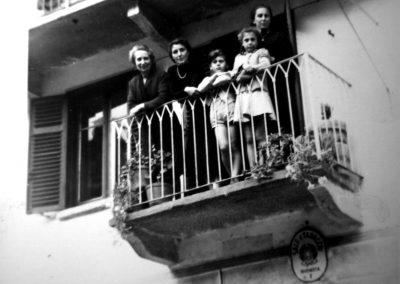 dal balcone, 1950
