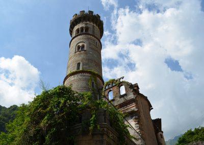 Rosazza, torre del castello