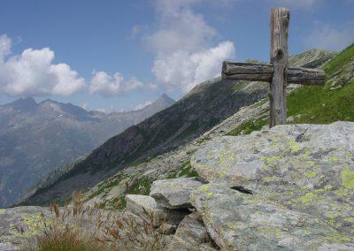 Croce in legno al colle Tourrison