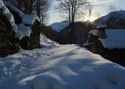 alpe Valdescola, tramonto