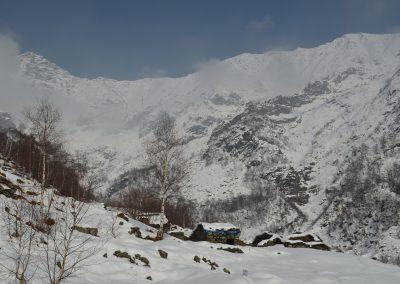 alpe Valdescola sotto la neve